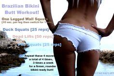 brazilian bikini butt workout