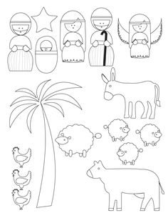 Coloring The Nativity Scene Cutouts Coloring Pages