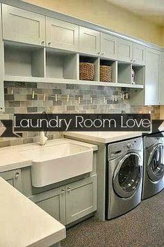 Mmmm, dream laundry room. love the sink
