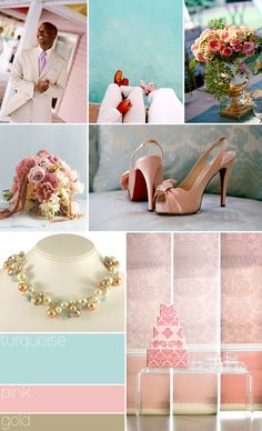 Color palette: turquoise, peach, gold.