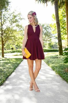 Seminole Game Day Style   L. Mae Boutique Garnet Game Day Dress #gamedaydress #gameday #fsu #seminoles #floridastate #gonoles