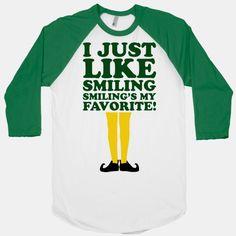 I Just Like Smiling (elf Baseball)   HUMAN