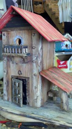 bird house with loafing shed