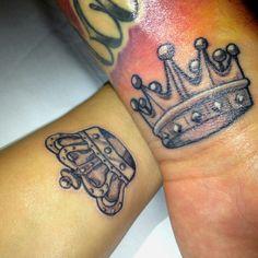 King & Queen Crown Tattoos