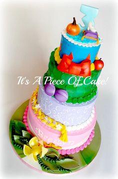 Disney Princess Themed Cake - by itsapieceofcake @ CakesDecor.com - cake decorating website