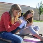 Outdoor Art scavenger hunt: kids head out with their sketchbooks, find, and draw items on the checklist.