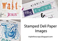 Triple the Scraps: Tuesday's {Tip} Using Deli Paper