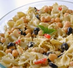 """Pesto Pasta & Chickpea Salad: """"A great dish with ingredients I usually have in my pantry!"""" -Kathy"""