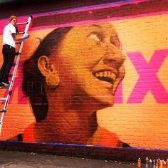 In progress: Seattle Art Museum Mural, 5/12.  #Weirdo #Graffiti