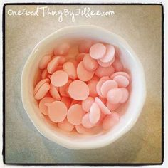 Frozen Yogurt Dots! Squeeze dots from the corner of a ziploc, onto a cookie sheet. So easy, I'm totally doing this.