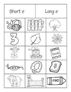 Short 'e' Long 'e' sort