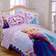 Disney FROZEN Anna and Elsa Reversable Twin Comforter Bedspread Hard to Find NEW