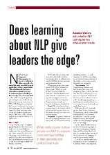 Does Learning about NLP give Leaders the Edge?