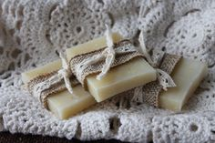 Soap Favors- Weddings- Bridal-Baby-Showers-Burlap and Lace-Rustic-French Chic- Country- Belle Savon Vermont on Etsy, $1.25