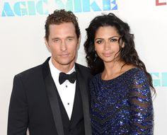 Matthew McConaughey and his beautiful wife Camila Alves
