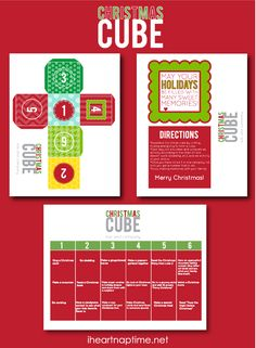 Christmas Cube Advent by @Katherine Rodriguez Comin {www.kikicomin.com} featured on iheartnaptime.com ...love this! #freeprintable