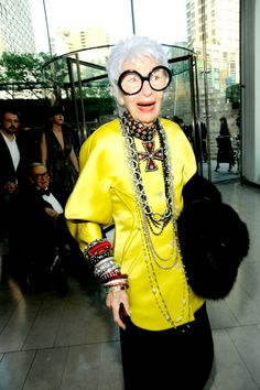 90 year old style-icon Iris Apfel...work it woman