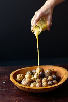 Roasted Potatoes with Lemon Olive Oil . Try this with Flying Olive's Lemon Infused Olive Oil!