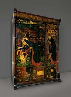 Sir Edward Coley Burne-Jones A.R.A. (1833-1898) The Prioress's Tale Wardrobe. 1858. He was an early member of The Artists Rifles.
