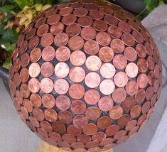 Copper Penny Gazing Ball