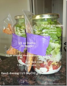 How to Make a Perfect Salad + Taco Salad in a Jar!