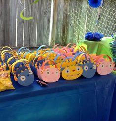 Hugglemonster party bags