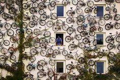 bicycles, shops, facad, street art, hous, germany, bicycle art, bike art, streetart