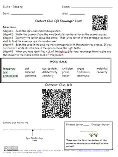 Ideas for using QR codes in the classroom!