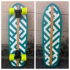 Cruiser Skateboard with geometric designs