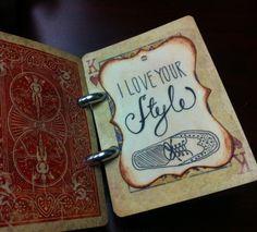 DIY Valentine's gift for him! Vintage 52 reasons I love you deck of cards.