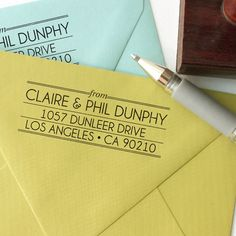 Custom return address stamp ART DECO DESIGN with by chattypress, $26.00