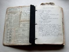 Preserving our ancestry --- handwritten cookbook.