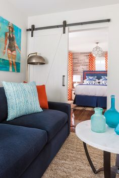 sliding door   The Attwater Hotel's Urban Beach House + Rachel Reider Interiors