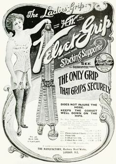The only grip that grips securely! (Ad from 1911.) #Edwardian #vintage #ads