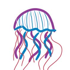 My drawing of a Jelly Fish