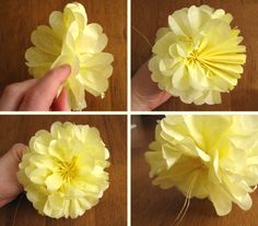 Tissue Paper Flowers-I just made them in pink-SO easy