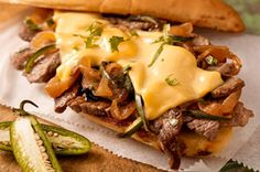 Garlic Bread Steak Sandwich recipe