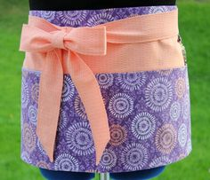 Purple & Peach Utility Craft Apron for Vending at Craft Shows and Farmers Markets