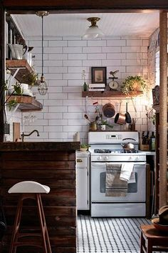 cozy kitchen, small kitchens, rustic kitchens, house interiors, wall tiles
