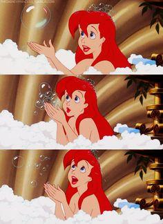The Little Mermaid Ariel's bubble bath