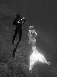 siren, dream, art, white, sea, photo shoots, mermaid, black, photographi