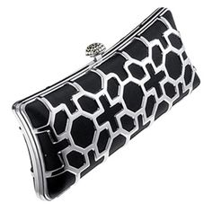Magid black and silver clutch