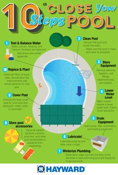 It's closing time in many parts of the country! Check out these 10 tips for closing your pool.