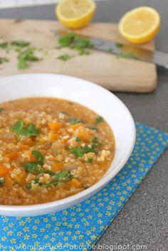 Lentil and Bulgur Soup with Lemon and Parsley