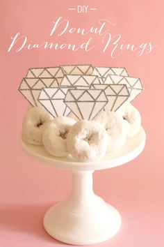 DIY diamond rings for a breakfast bridal shower and cute and fun to create on a budget!