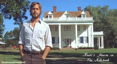 Noah's House with blue shutters The Notebook Gosling