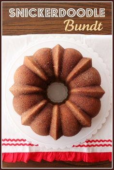 Snickerdoodle Bundt Cake Recipe ~ Says: the pan is buttered then, coated in cinnamon sugar. When you turn the cake out of the pan, you're left with a thick sweet and spicy crunchy crust. There's also a ripple of cinnamon sugar that runs throughout the center on the cake. The cake was so moist, tender and flavorful!