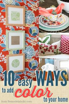 10 easy ways to add