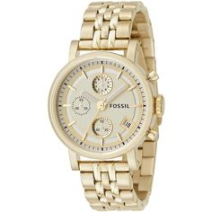 Fossil Watch, Women's Gold Plated Bracelet Es2197 ❤ liked on Polyvore