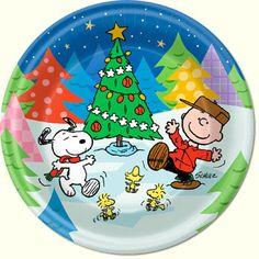 Charlie Brown Christmas Dessert Plates